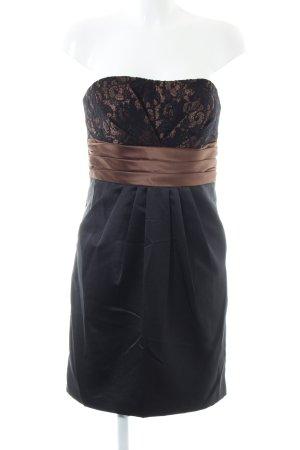 Laona Vestido bustier negro-color bronce look efecto mojado