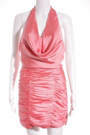Laona Cocktailkleid neonpink Glanz-Optik