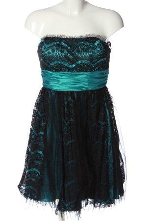 Laona Minikleid türkis-schwarz Elegant