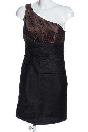 Laona Vestido de un hombro negro-marrón elegante
