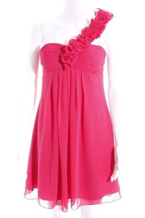 Laona Vestido de un hombro magenta elegante