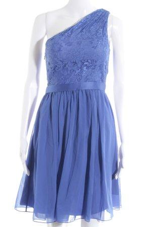 Laona One-Shoulder-Kleid stahlblau florales Muster Elegant