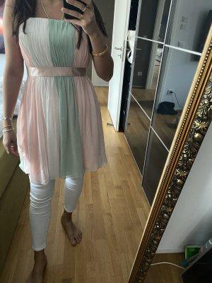 Laona XL Kleid rosa grün Plissee