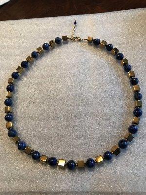 Handmade with Love Collar estilo collier azul oscuro-color oro