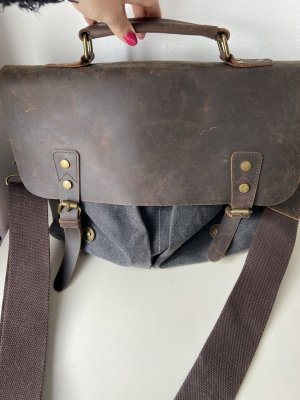 Laptop bag brown-slate-gray