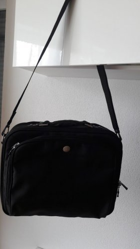 Laptop bag black polyester