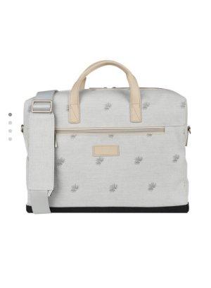 Laptop bag light grey textile fiber