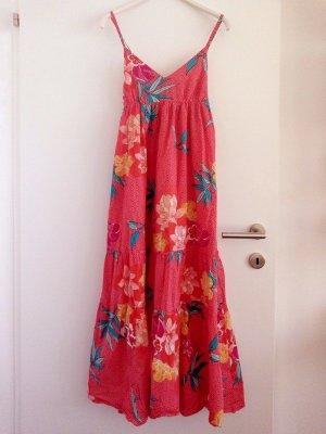 Lara Ethnics Vestido Hippie rojo claro-crema Algodón