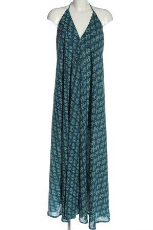 Lara Ethnics Robe dos-nu bleu imprimé allover style décontracté