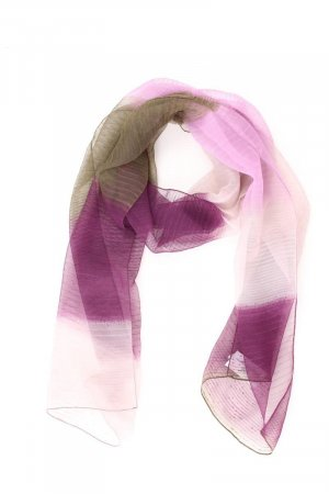 Summer Scarf lilac-mauve-purple-dark violet polyester