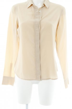 Lareida Langarm-Bluse beige Business-Look