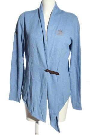 Largentina Cárdigan azul look casual