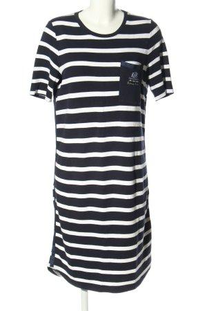 Largentina Kurzarmkleid schwarz-weiß Motivdruck Casual-Look