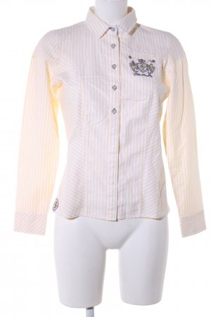 Largentina Langarmhemd creme-weiß Streifenmuster Casual-Look
