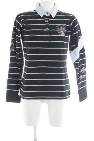 Largentina Polo-Shirt schwarz-hellgrau Casual-Look