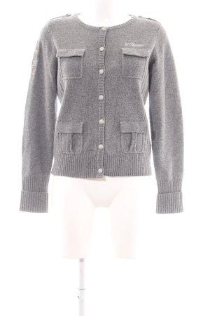 Largentina Chaqueta de lana gris claro moteado look casual