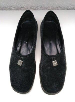 LARIO 1898 Damen Schuhe Slipper Halbschuhe Loafer Leder Schwarz Gr.39,5