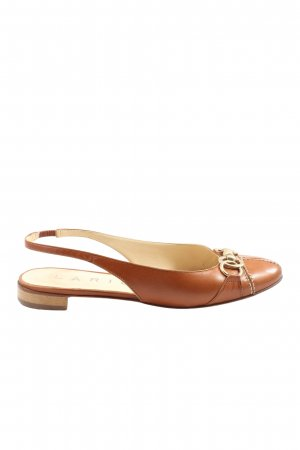 Lario Slingback-Pumps braun Casual-Look