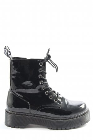Larke Lace-up Booties black casual look