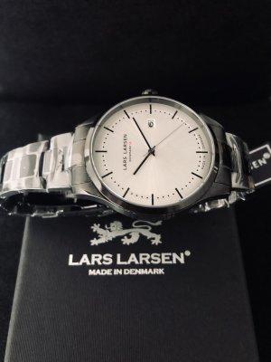 Lars Larsen Design Denmark Montre avec bracelet métallique noir-blanc métal