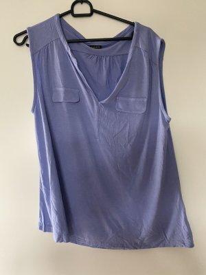 Lascana Blusa de manga corta púrpura-azul celeste