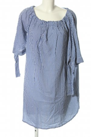 Lascana Blusenkleid blau-weiß Streifenmuster Casual-Look
