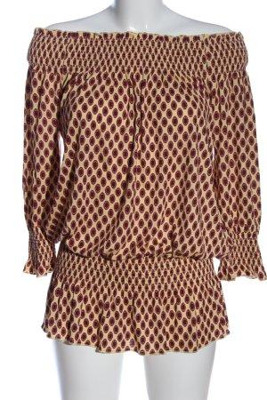 Lascana Carmen Blouse cream-brown allover print casual look