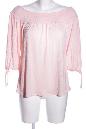 Lascana Bluzka typu carmen różowy W stylu casual