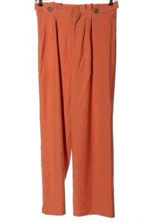 Lascana Pantalon taille haute orange clair style décontracté