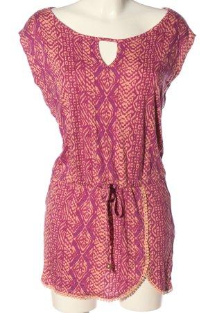 Lascana Długa bluzka różowy-nude Abstrakcyjny wzór W stylu casual