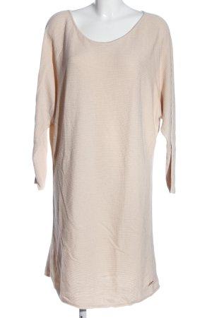 Lascana Robe pull rose chair-blanc cassé motif rayé style décontracté