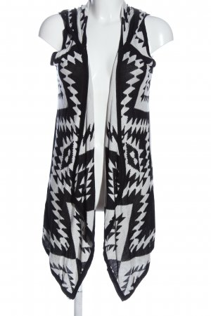 Lascana Long Knitted Vest black-white allover print casual look