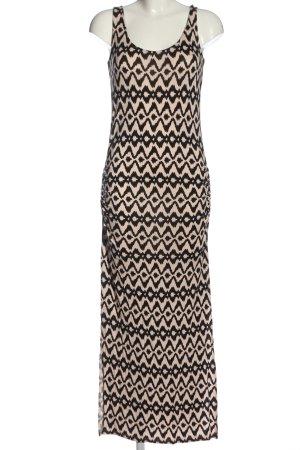 Lascana Maxikleid schwarz-creme abstraktes Muster Casual-Look