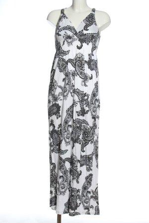 Lascana Maxikleid weiß-schwarz abstraktes Muster Casual-Look