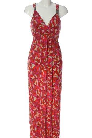 Lascana Maxi Dress red-cream abstract pattern elegant