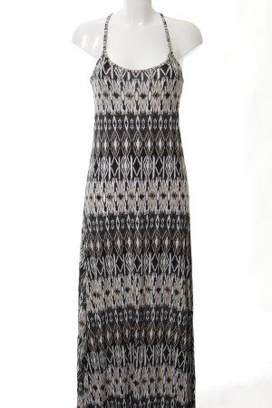 Lascana Robe longue noir-brun motif graphique style décontracté