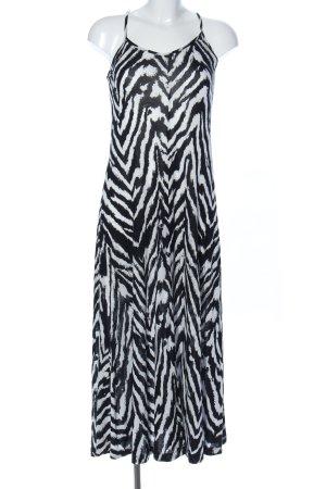 Lascana Robe longue noir-blanc motif animal élégant