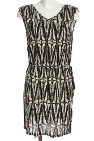 Lascana Robe courte noir-crème motif abstrait style décontracté