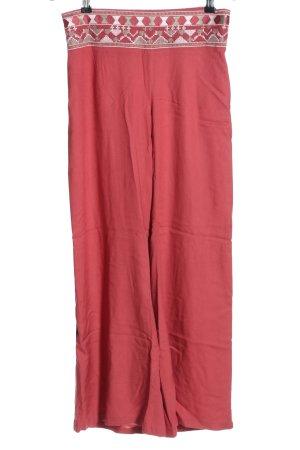 Lascana Pantalon palazzo rouge motif graphique style décontracté