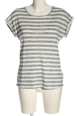 Lascana T-shirt rayé gris clair-blanc cassé moucheté style décontracté