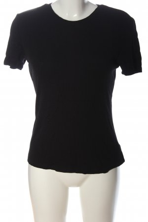 Lascana Rippshirt schwarz Casual-Look