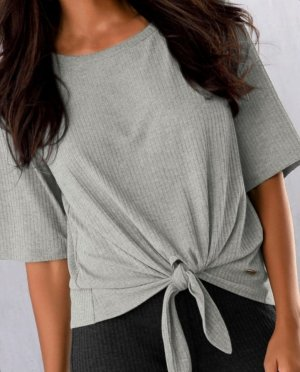 Lascana Geribd shirt lichtgrijs