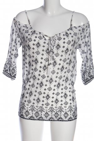 Lascana Schlupf-Bluse schwarz-weiß abstraktes Muster Casual-Look