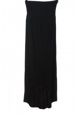 Lascana schulterfreies Kleid schwarz Casual-Look