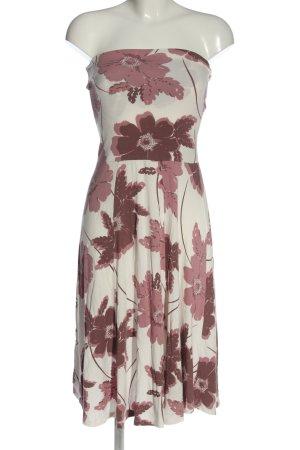 Lascana Vestido strapless estampado con diseño abstracto elegante