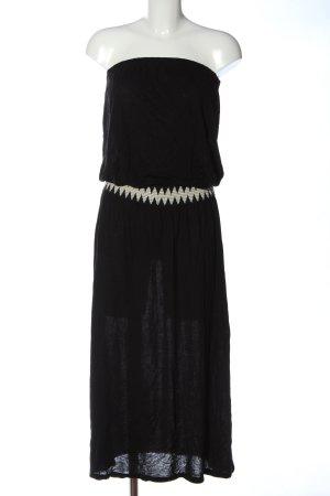 Lascana schulterfreies Kleid schwarz-wollweiß Elegant