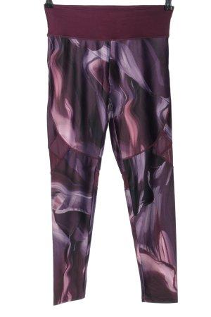 Lascana Sporthose lila-pink abstraktes Muster sportlicher Stil