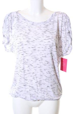 Lascana T-Shirt weiß-schwarz meliert schlichter Stil