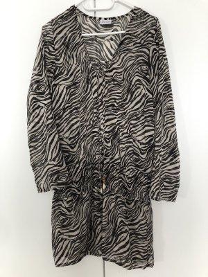 Lascana Robe tunique blanc-noir