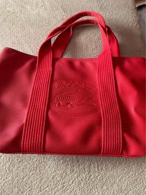 Lacoste Shopper rouge foncé